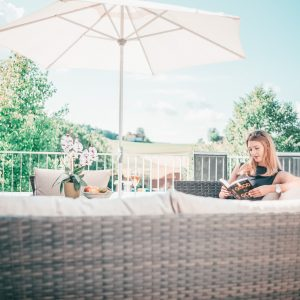 Sonnige Terrasse im Hotel Keplingerwirt