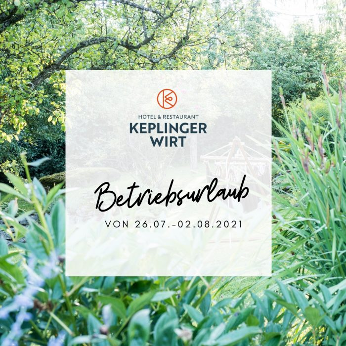 Betriebsurlaub-Keplingerwirt